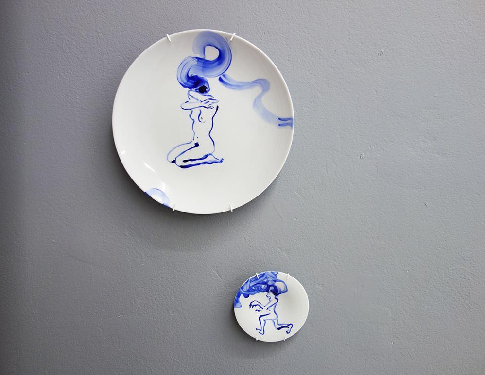 Dinner and dessert plate