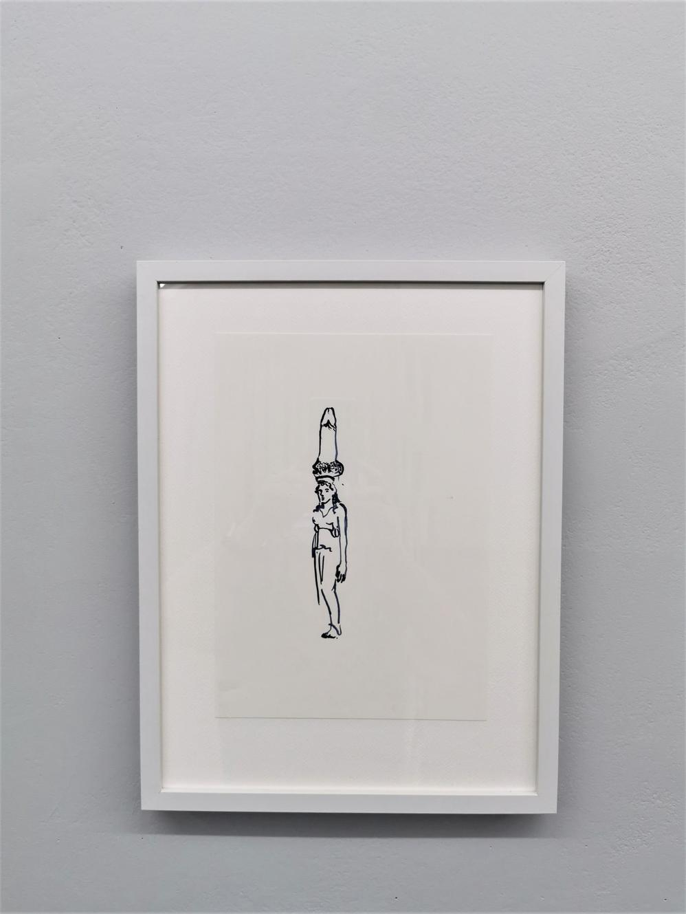 Exhibition view, drawing 01