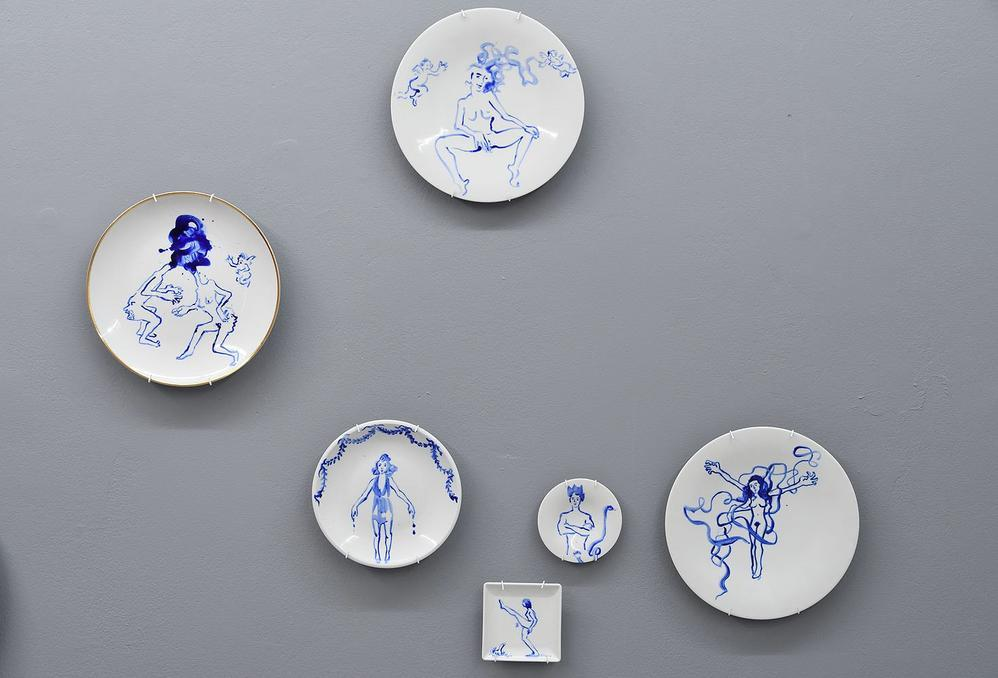 Exhibition view of plates, 06